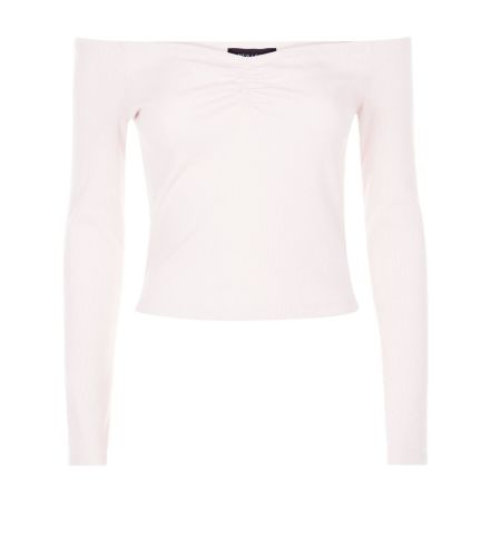pink-ribbed-sweetheart-neck-top